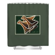 Paper Horns Shower Curtain