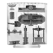 Paper Mill Diagram, 1814 Shower Curtain