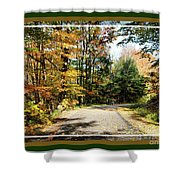 Paper Mill Trail, Framed Shower Curtain