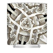 Paper Pattern Shower Curtain