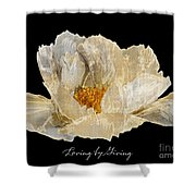 Paper Peony Loving By Giving Shower Curtain