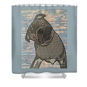 Paper Pug Shower Curtain