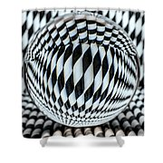 Paper Straw Patterns Shower Curtain
