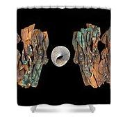 Paper Study IIi Shower Curtain