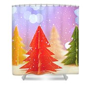 Paper Trees Shower Curtain