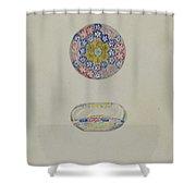 Paper Weight Shower Curtain