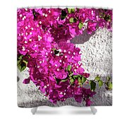 Papery Pink Riot Shower Curtain