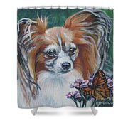 Papillon With Monarch Shower Curtain