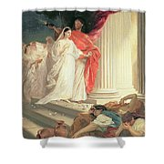 Parable Of The Wise And Foolish Virgins Shower Curtain by Baron Ernest Friedrich von Liphart