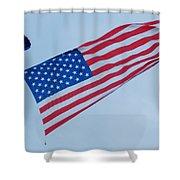 Parachute And Flag Shower Curtain
