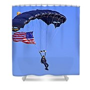 Parachutist Shower Curtain