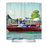 Parade Of Boats 41 Shower Curtain