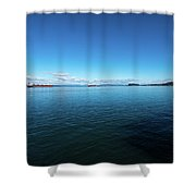 Parade Upriver Shower Curtain
