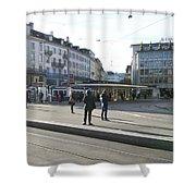 Paradeplatz - Bahnhofstrasse, Zurich Shower Curtain