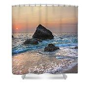 Paradise Beach Sunset Shower Curtain