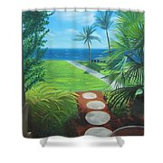 Paradise Beckons Shower Curtain