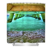 Paradise In Grand Turk Never Ends Shower Curtain