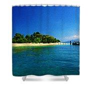 Paradise Island Haiti Shower Curtain