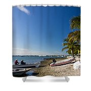 Paradise Shower Curtain by Michael Tesar
