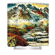 Paradise Mountain Shower Curtain