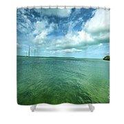 Paradise On Earth, Florida Keys Shower Curtain