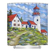 Paradise On The Point Shower Curtain
