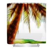 Paradise Palm Shower Curtain