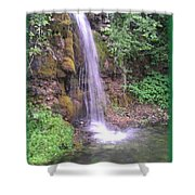 Waterfall In Spring Paradise Cove Winslow Illinois Shower Curtain