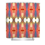 Paradise Repeated Shower Curtain by Amy Vangsgard