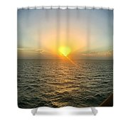 Paradise Sunset Oasis Shower Curtain