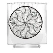 Paradoxicircally Shower Curtain
