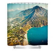 Paragliding Fly Above Laguna Artmif.lv Shower Curtain