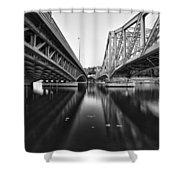 Parallel Bridge Shower Curtain