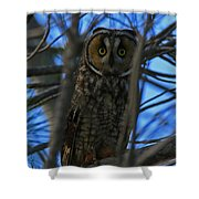 Parallel Leanings - A Hooter Study Shower Curtain