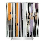 Parallel Lines Shower Curtain