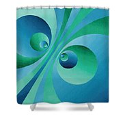 Parallel Universes Shower Curtain