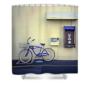 Paramount Backlot Bicycle Shower Curtain