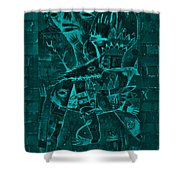 Paramount Turquoise Shower Curtain