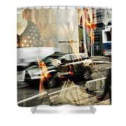 Paranoid Country Boy  Shower Curtain