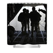 Pararescuemen Prepare For A Halo Jump Shower Curtain