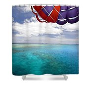 Parasail Over Fiji Shower Curtain