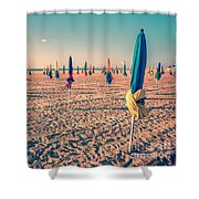 Parasols Of Deauville Shower Curtain