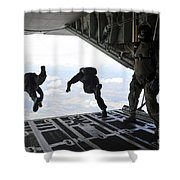 Paratroopers With The Spanish Military Shower Curtain