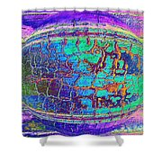 Parched Earth Abstract Shower Curtain