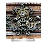 Paris - 19th Century Brass Door Knocker Shower Curtain