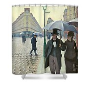 Paris A Rainy Day - Gustave Caillebotte Shower Curtain