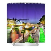 Paris At Night 16 Art Shower Curtain
