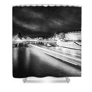Paris At Night 19 Bw Art  Shower Curtain