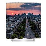 Paris, Avenue De La Grande Armee Shower Curtain