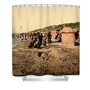 Trouville France Beach - The Good Old Days Shower Curtain